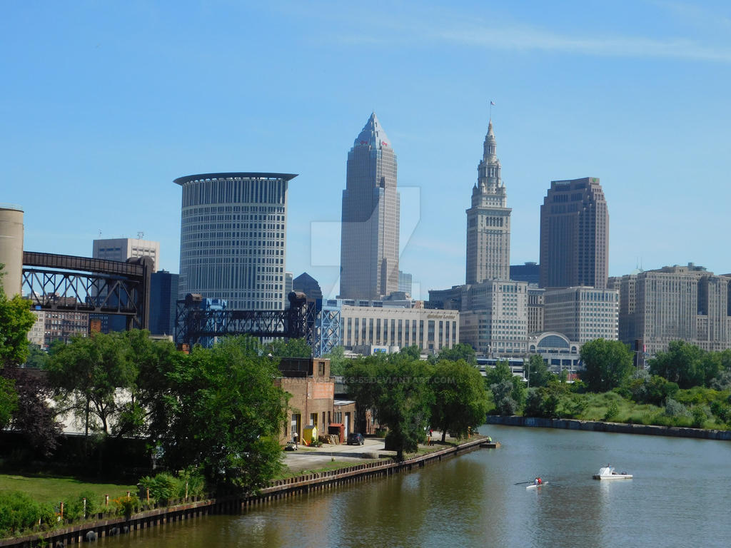 Cleveland Ohio River View (Rolling on the River) by NancySparks-55
