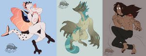 Coloured Doodle Sketchies (batch 1) by zigzaggin-goon