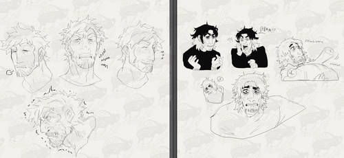 Expression Sheet WIPs of my sons (+Interest Check)