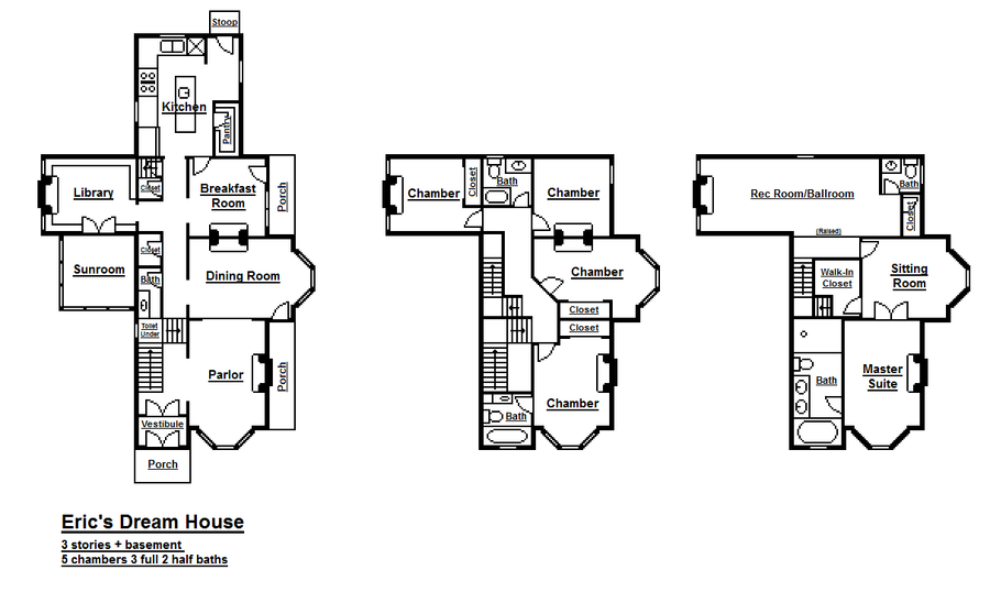 Floorplans Of My Dream House By Viktorkrum77 On Deviantart