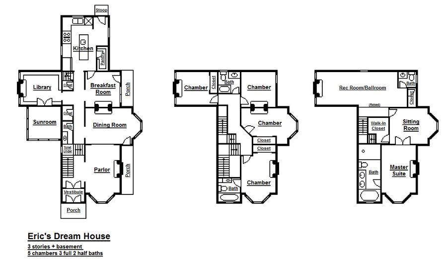 Floorplans Of My Dream House By Viktorkrum77 On Deviantart
