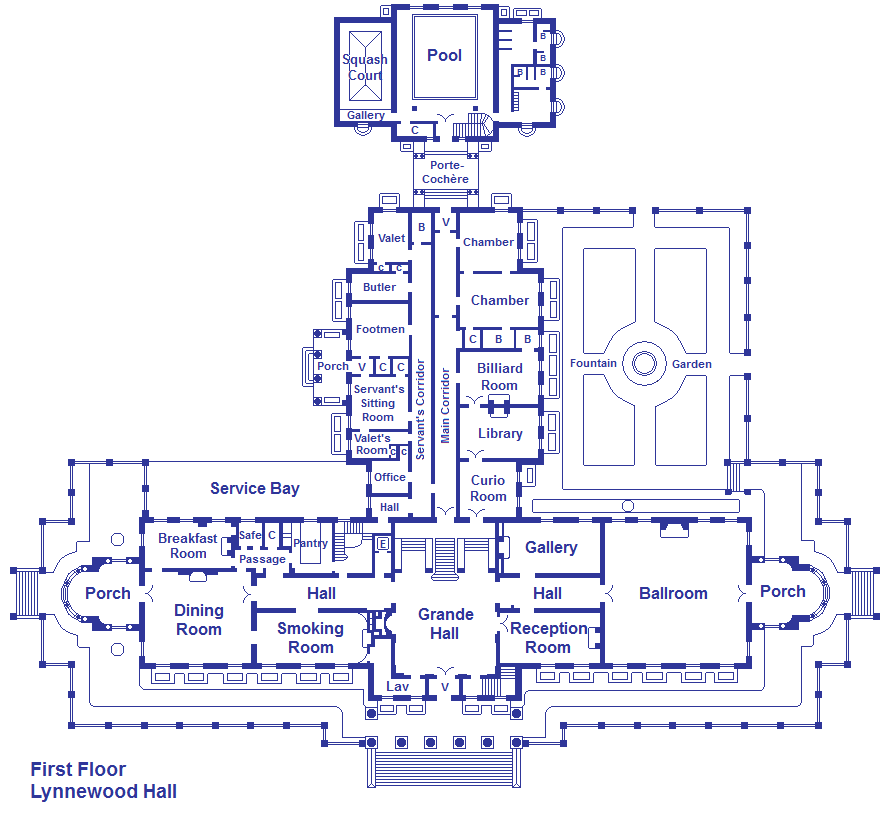 Lynnewood hall first floor by viktorkrum77 on deviantart for Floor plans first