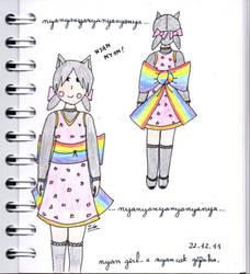 Nyan Girl by pwassonne