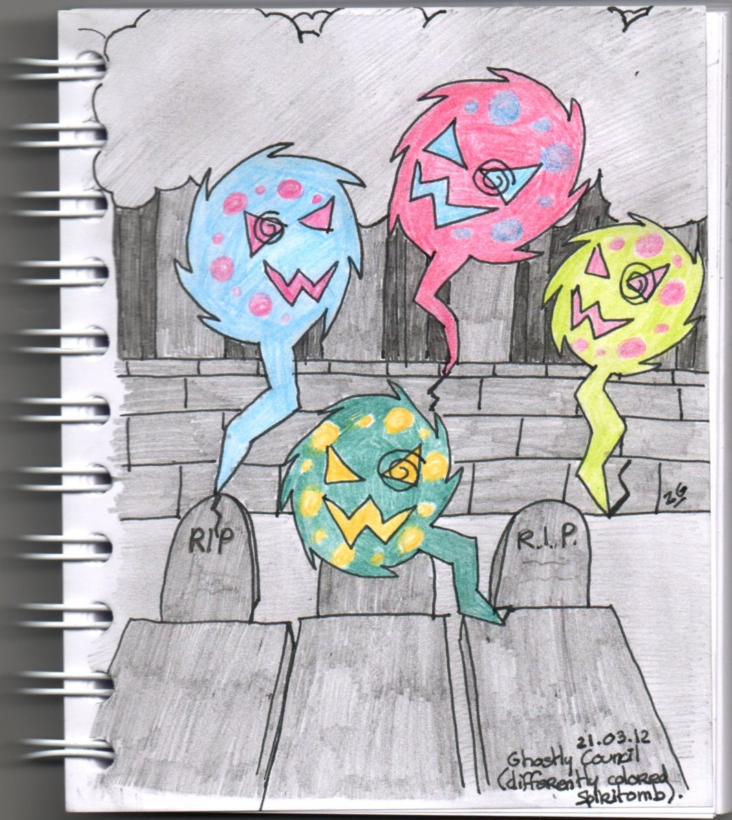 Ghostly Council of the Spiritomb by pwassonne