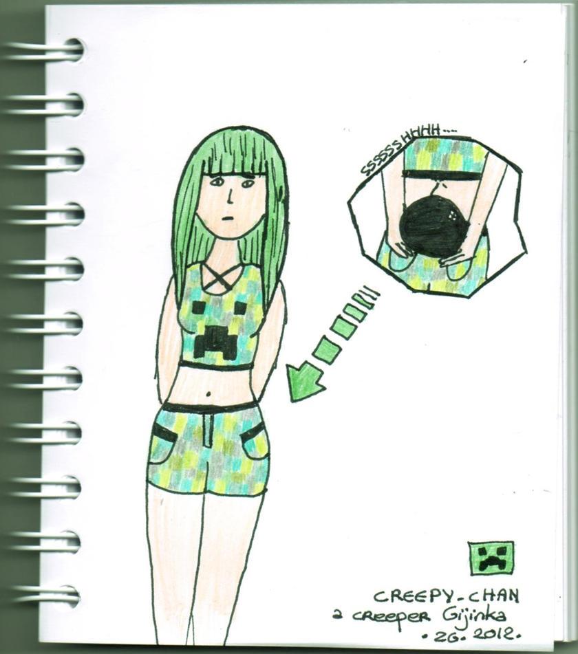 Creepy-chan by pwassonne