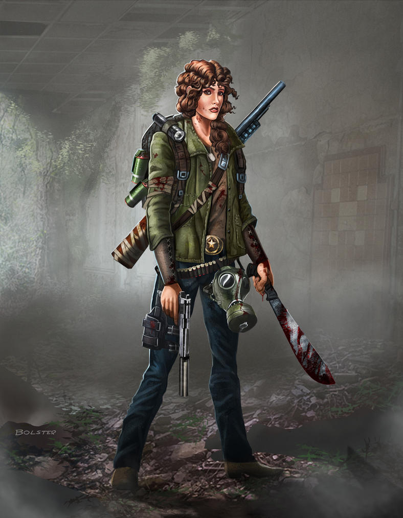 Zombie Apocalypse survivor: Maggie by Mr-Donkeygoat