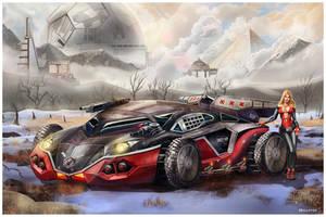 The Smilodon stealth combat vehicle by Mr-Donkeygoat