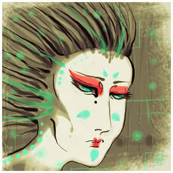 Techno Geisha by yunni