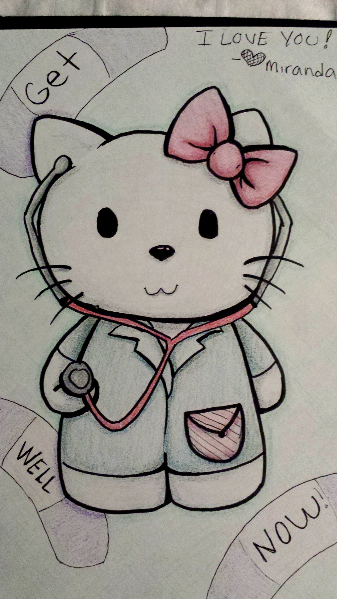 hello kitty get well soon card wwwimgkidcom the