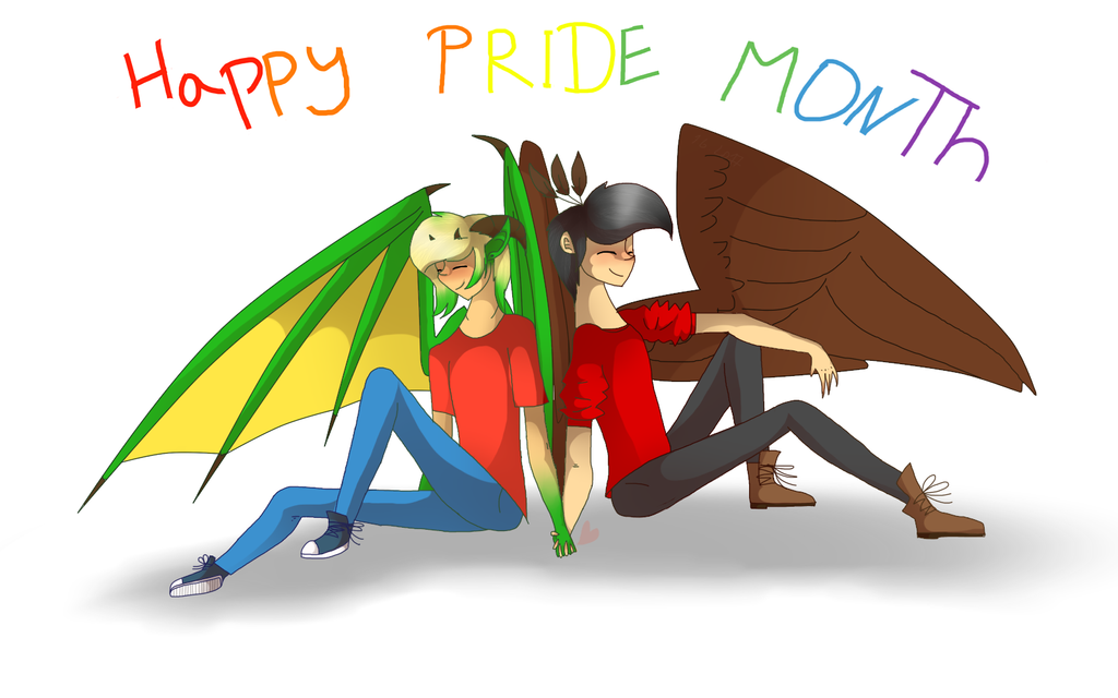 Pride Month by WOLFgirlDRAWING