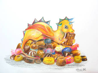 My Chocolate Dragon by AlexaDS