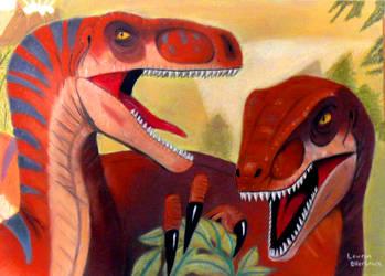 Velociraptors by CookiePhantom