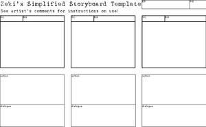 Simplified Storyboard Template by CookiePhantom