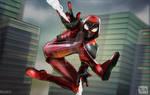 Miles Morales Crimson Cowl Suit