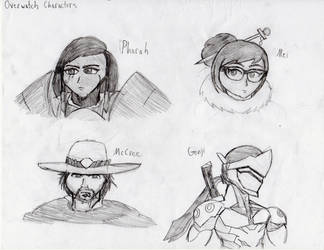 Overwatch Characters by SPdraws