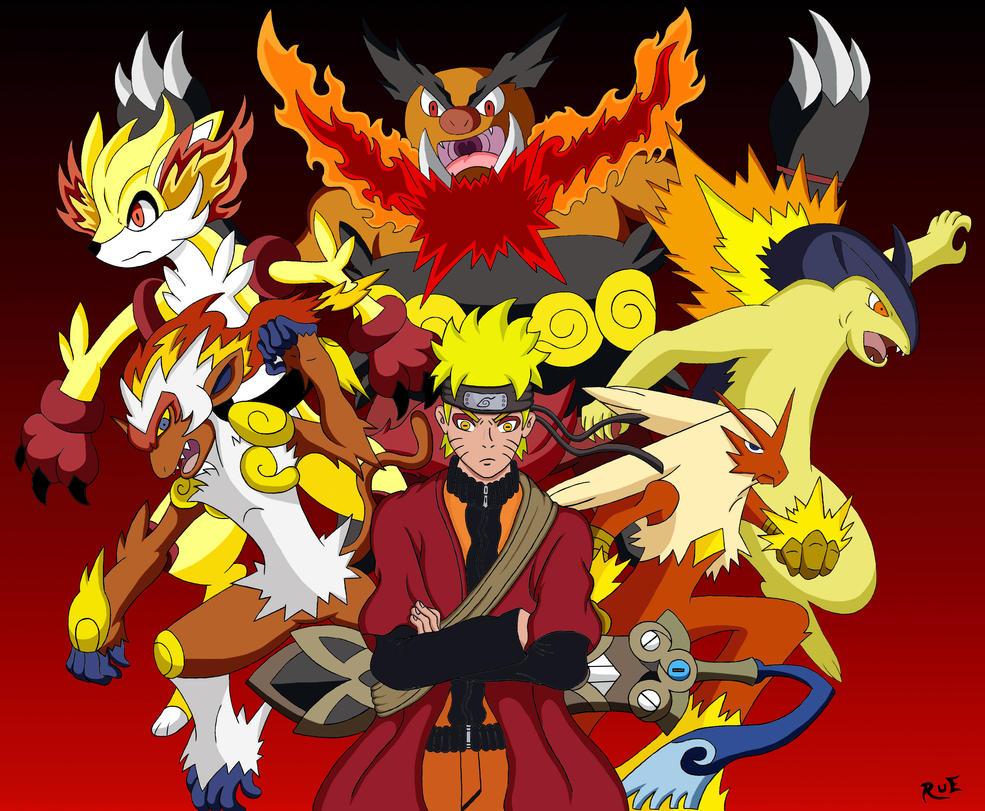 Naruto Uzamaki: Pokemon Fire Sage by Rueprez