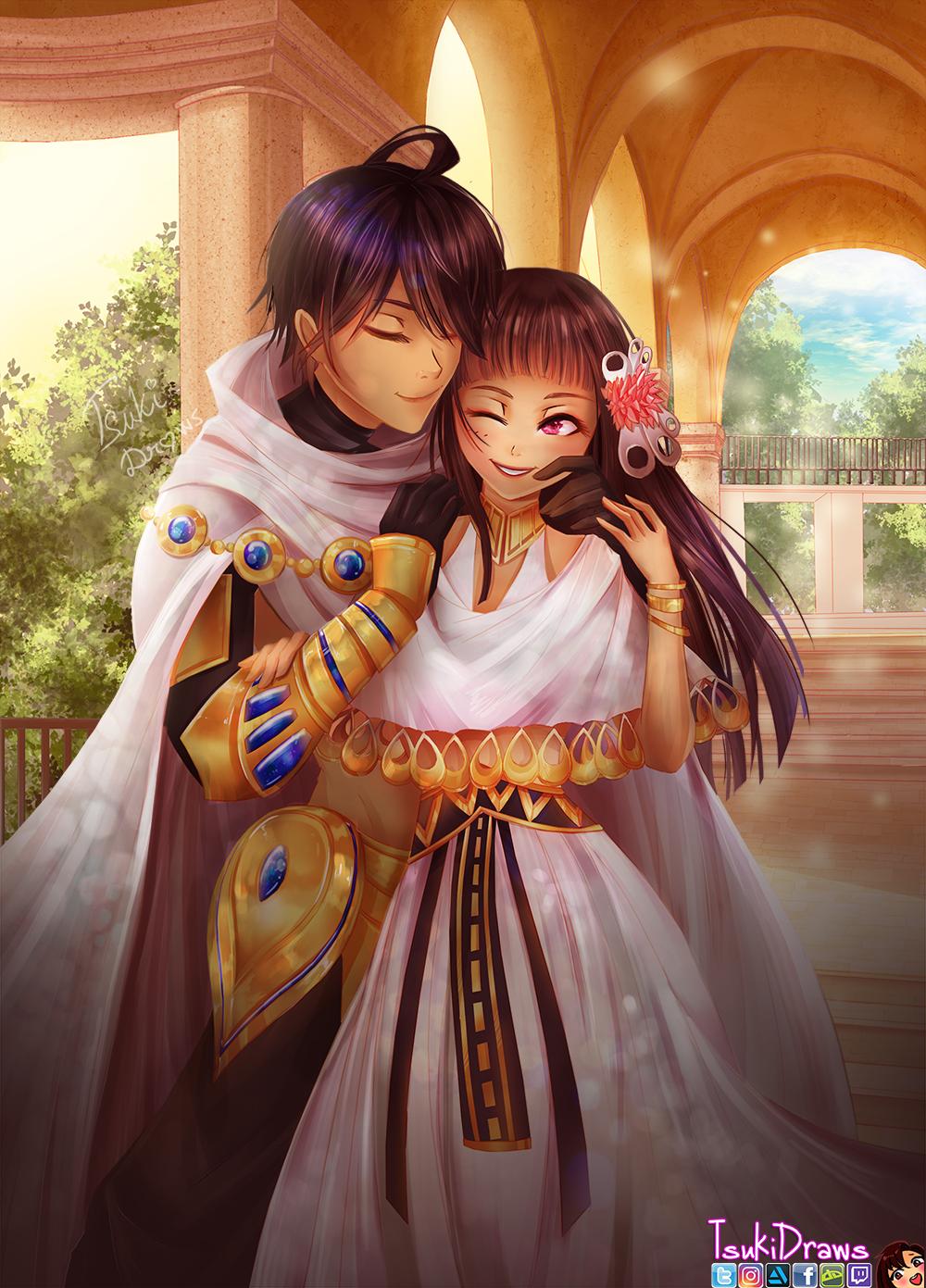 Ozymandias and Nefertari by TsukiDraws on DeviantArt
