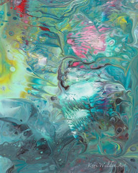Bird in Flight Abstract Acrylic Pour Painting
