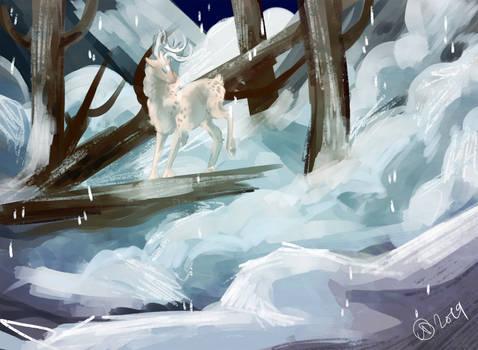 Trough the avalanche