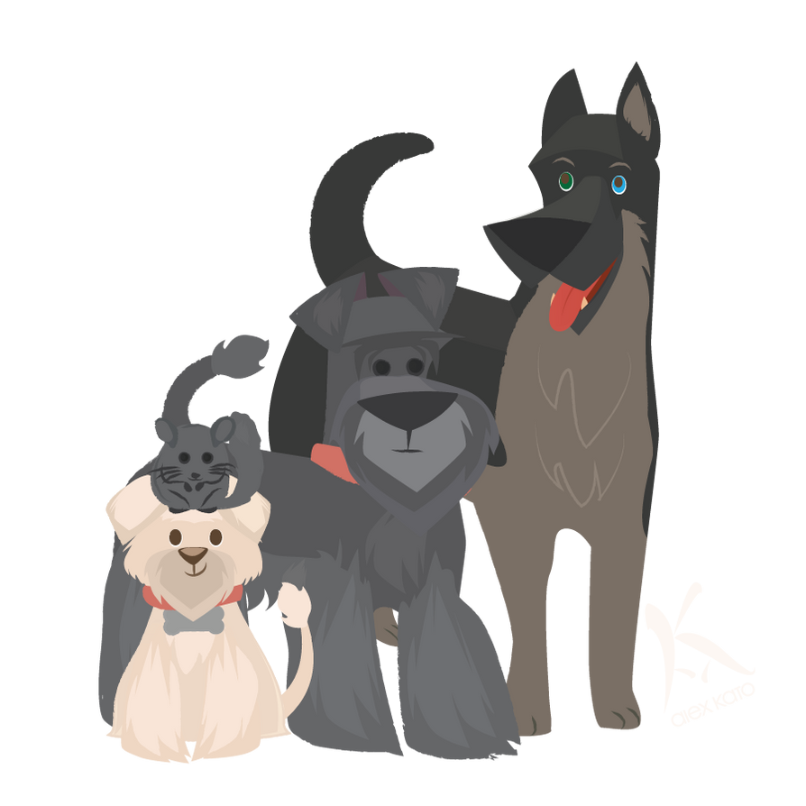 My animal family! by AxKato