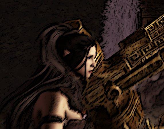 Marceline and Dwemer Ruin by Lesliewifeofbath