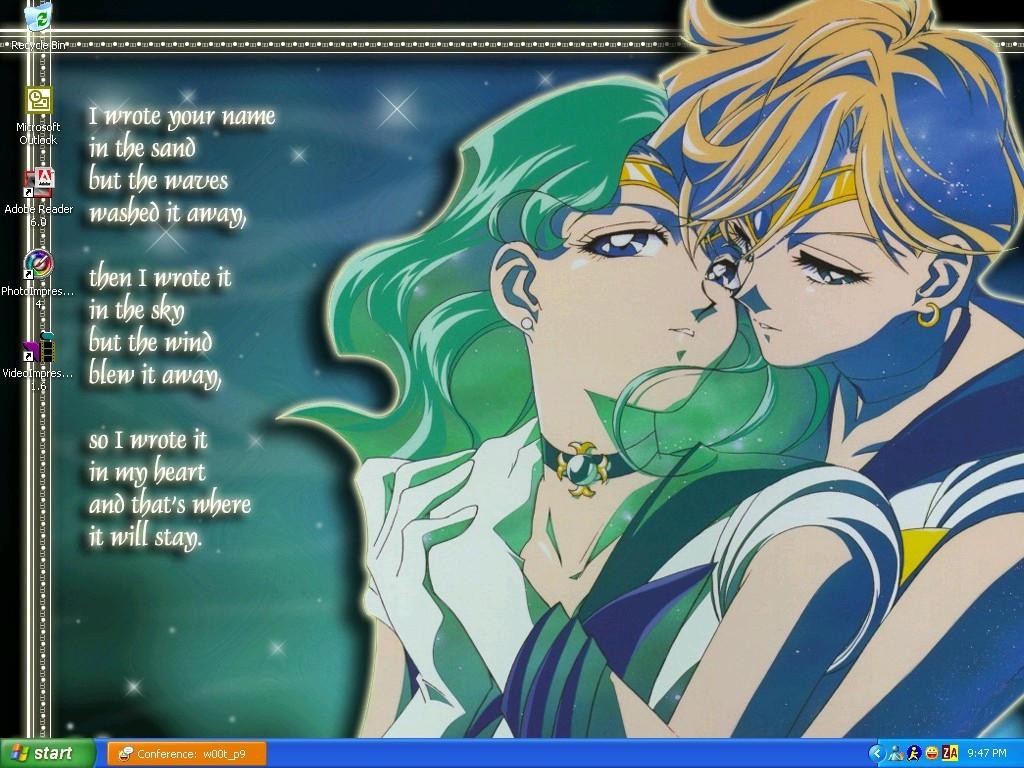 Sailor Neptune and Uranus by JustifiedWings