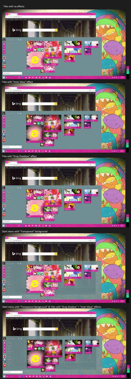 Concept 8 : Startmenu + 3 different effects by JFIII