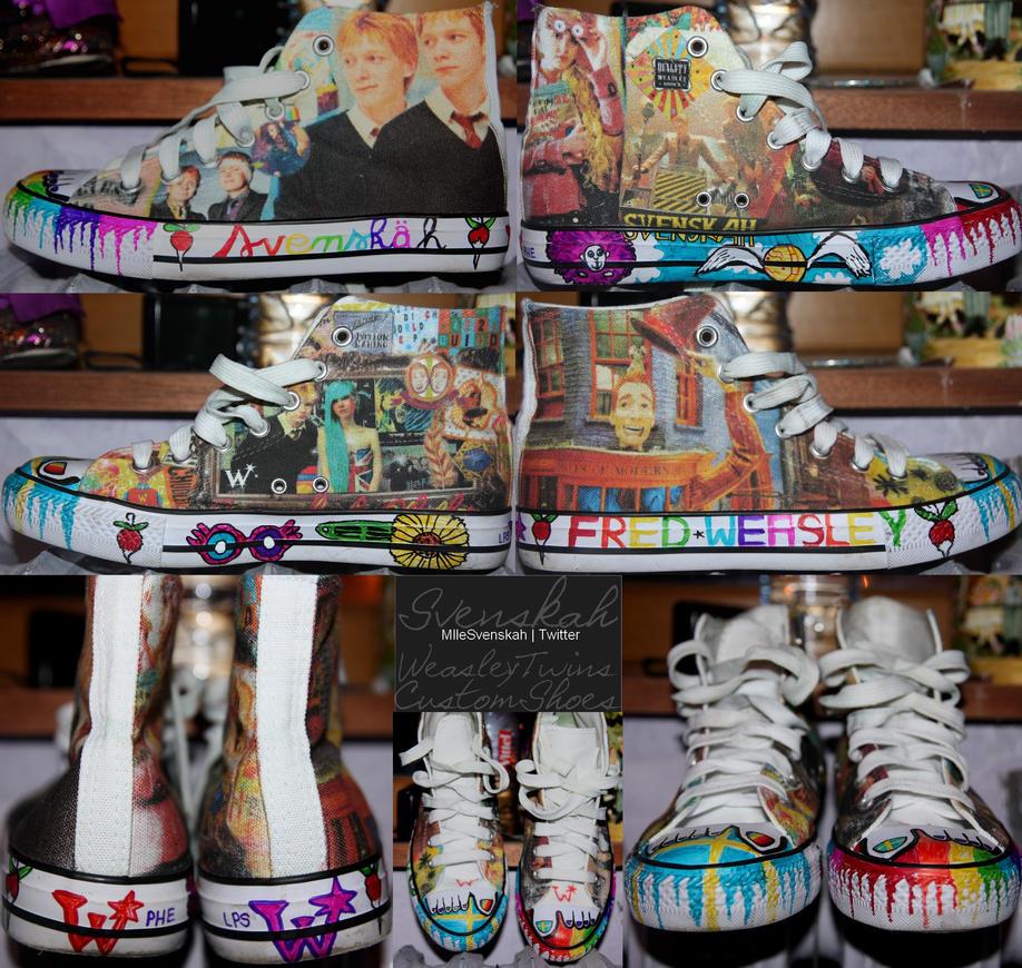 Harry Potter Custom Shoes . by Mlle-Svenskah