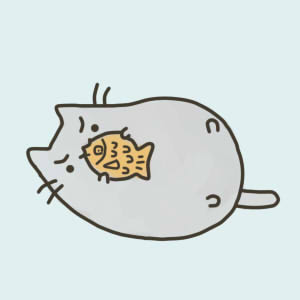 first pusheen drawing by Nyatto