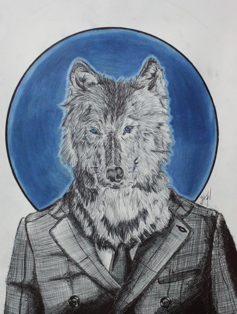 Sr. Lobo - Mr. Werewolf by atramento-negro