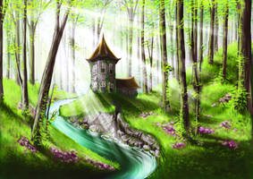 Living in a fairy forest by red-fox-child