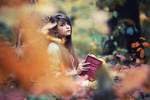 Autumn book reading