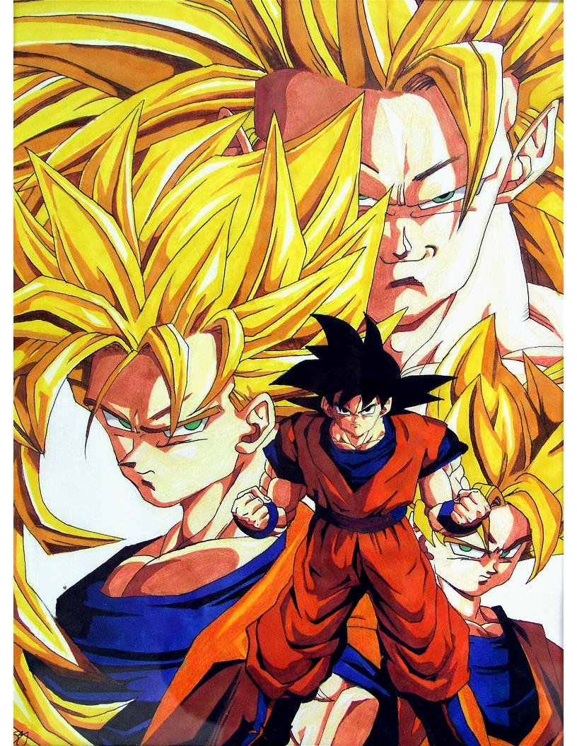 Goku- Normal to SS3 by Kagome357 on DeviantArt