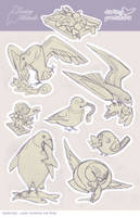 Losing Altitude Stretch Goal Stickers!! Sketch by blix-it