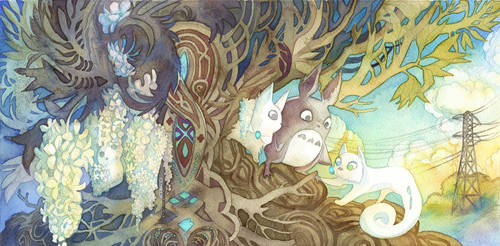 Totoro and Secret of Kells Crossover
