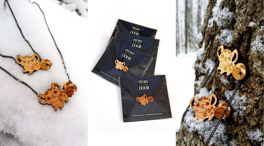 Snow Leopard Necklace and Packaging Designs by blix-it
