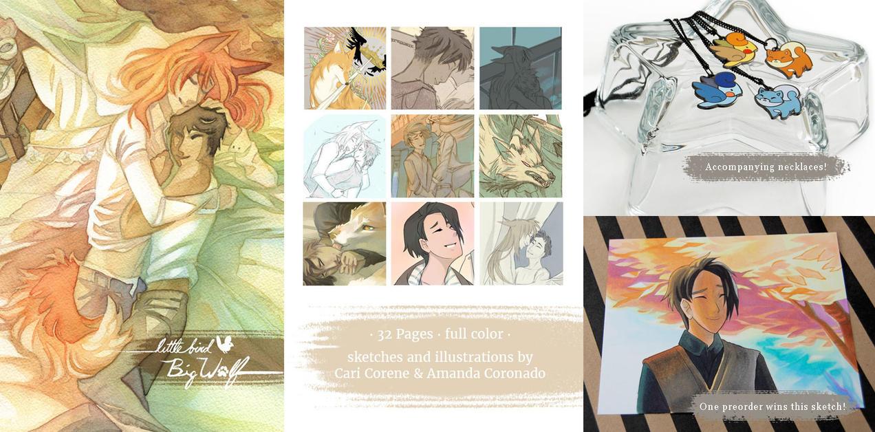 Little Bird : Big Wolf BL Sketchbook Preorder! by blix-it