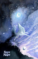 Snow by Night by blix-it