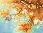 Ginkgo Birb Watercolor