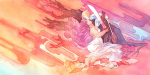 SU Rose Quartz and Pearl Sword Fighting Picnic