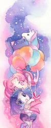 Chibiusa Hotaru Balloons and there's a Helios too by blix-it