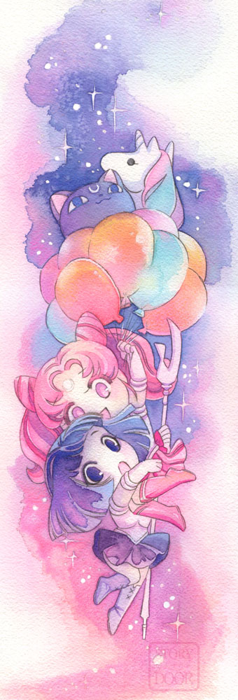 Chibiusa Hotaru Balloons and there's a Helios too