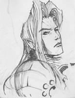 Sephiroth Sketch by CJ2KX