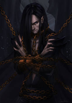 Melkor Chained in the Halls of Mandos