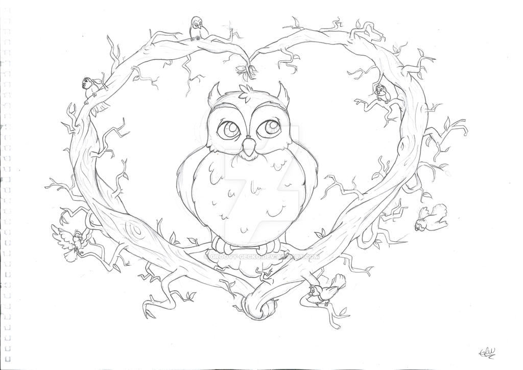 T Shirt Design Line Art : Owl t shirt design line drawing by groovy gecko on