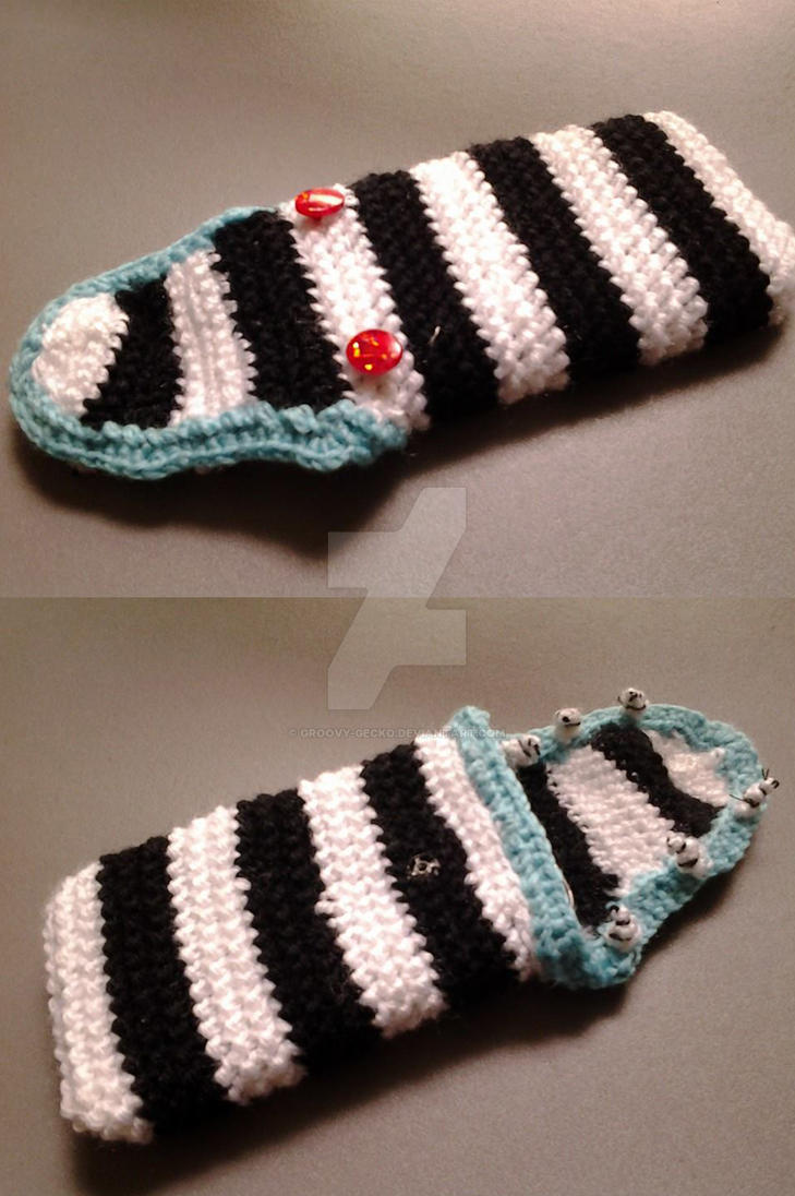 Beetlejuice Sandworm Phone Sock by Groovy-Gecko