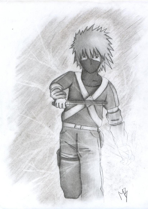 Kakashi young chidori by TigressDrawing on DeviantArt