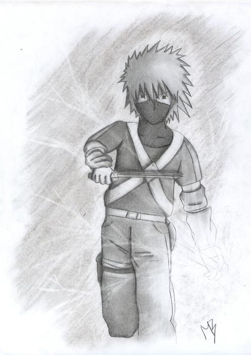 Kakashi young chidori by TigressDrawing on DeviantArt
