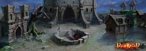 an abandoned castle