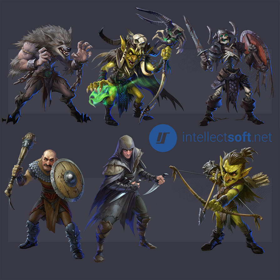 Characters for the game1 by dron111